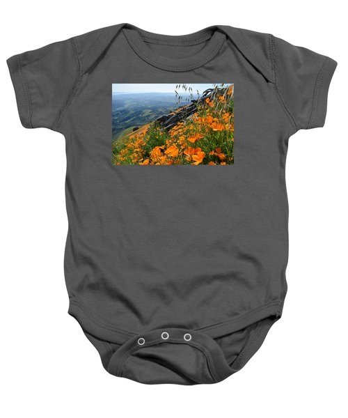 Poppy Mountain  Baby Onesie