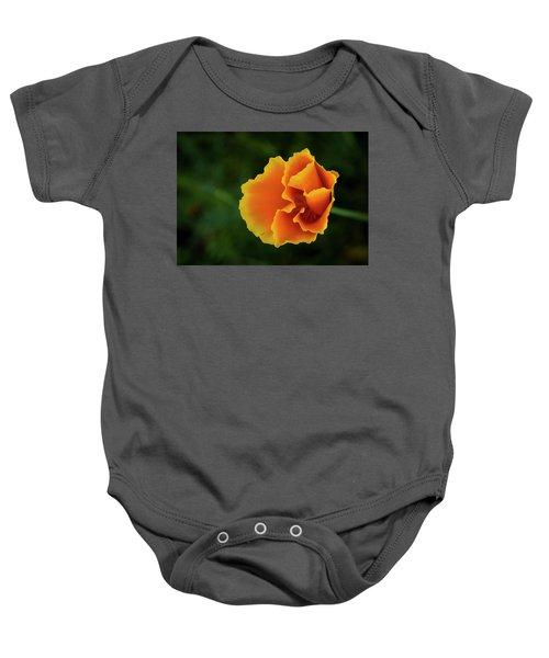 Poppy Orange Baby Onesie