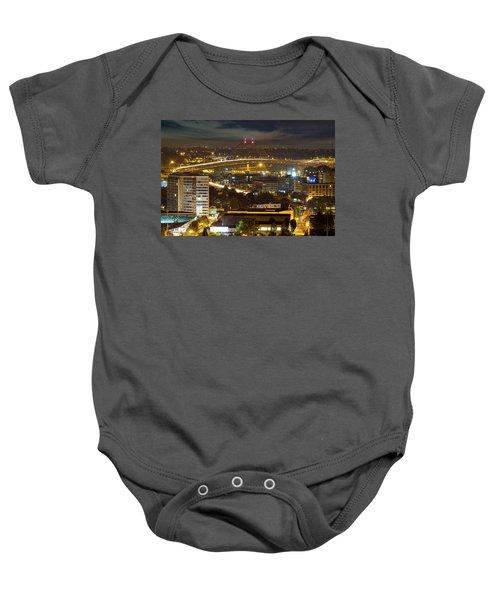 Portland Fremont Bridge Light Trails At Night Baby Onesie
