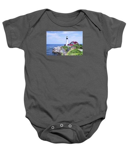 Portland Head Lighthouse Baby Onesie