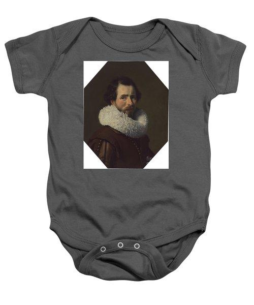 Portrait Of A Gentleman Wearing A Fancy Ruff Baby Onesie