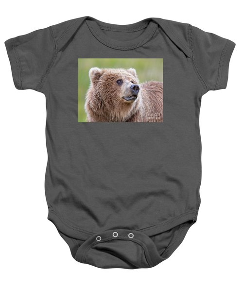 Portrait Of A Grizzly Baby Onesie