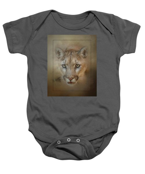 Portrait Of A Mountain Lion Baby Onesie