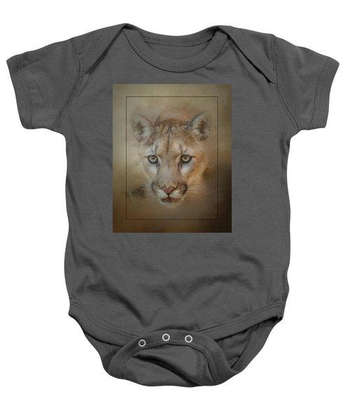 Portrait Of A Mountain Lion Baby Onesie