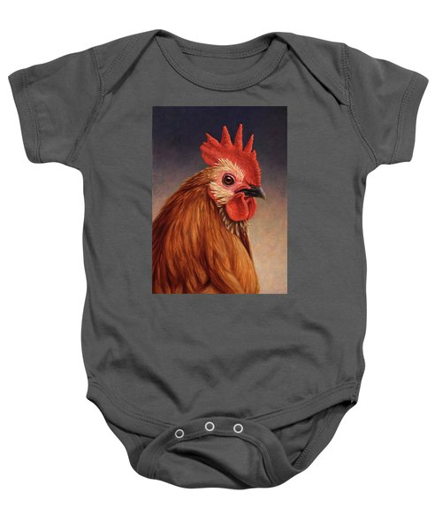 Portrait Of A Rooster Baby Onesie