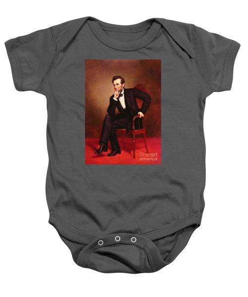 Portrait Of Abraham Lincoln Baby Onesie