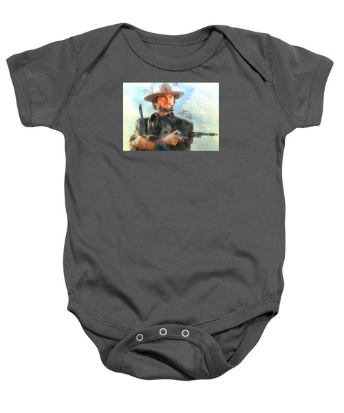 Portrait Of Clint Eastwood Baby Onesie