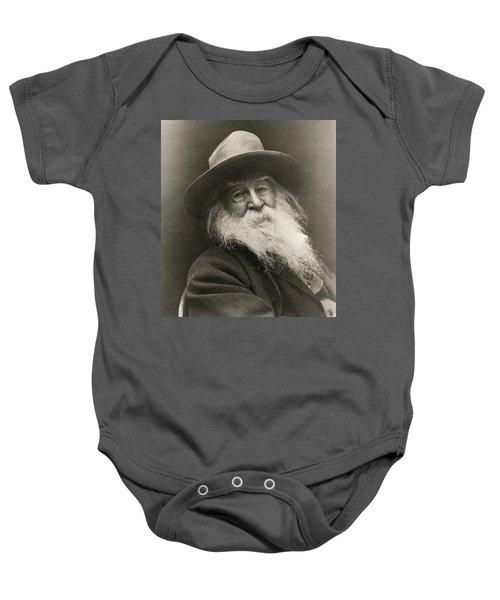 Portrait Of Walt Whitman Baby Onesie