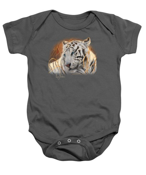 Portrait White Tiger 1 Baby Onesie