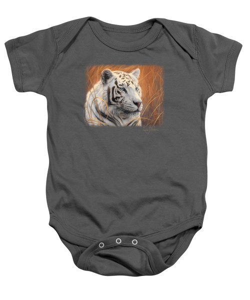 Portrait White Tiger 2 Baby Onesie
