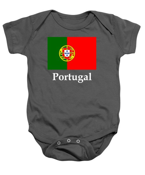Portugal Flag And Name Baby Onesie