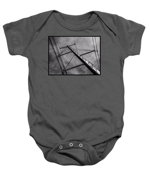 Power Line Sky Baby Onesie