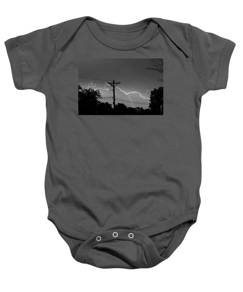 Power Lines Bw Fine Art Photo Print Baby Onesie