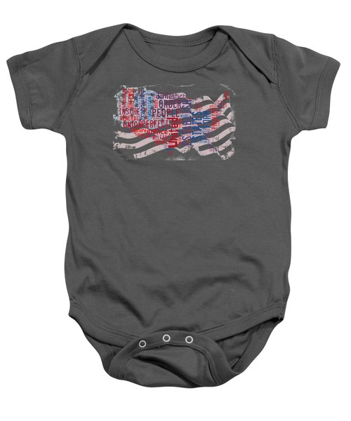 Preamble To The Constitution On Us Map Baby Onesie