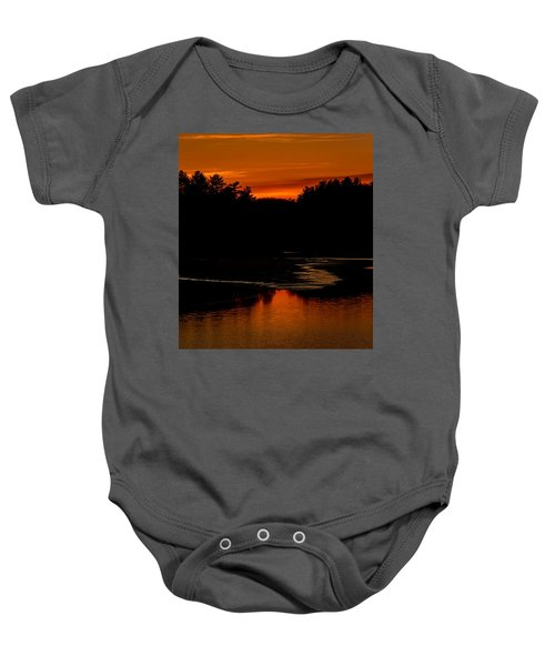 Presumpscot Sunset No.101 Baby Onesie by Mark Myhaver