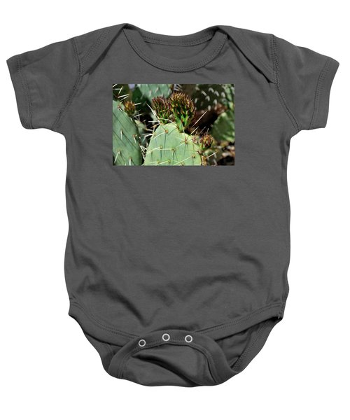 Prickly Pear Buds Baby Onesie