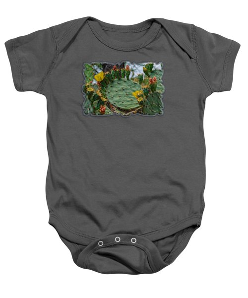 Prickly Pear Flowers H35 Baby Onesie by Mark Myhaver