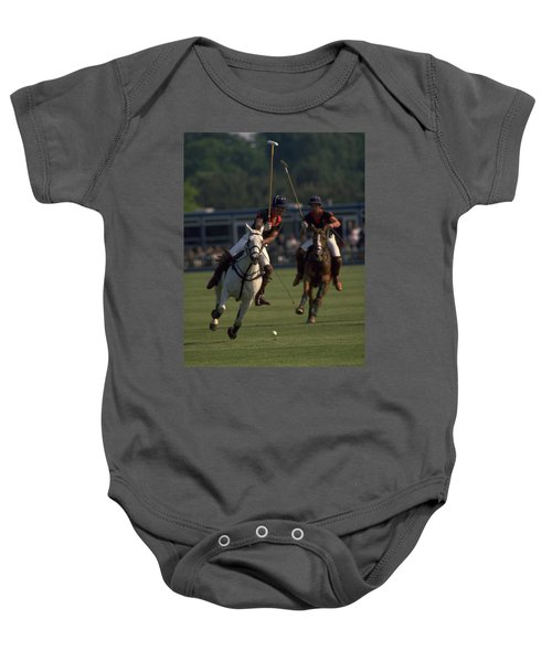 Prince Charles Playing Polo Baby Onesie