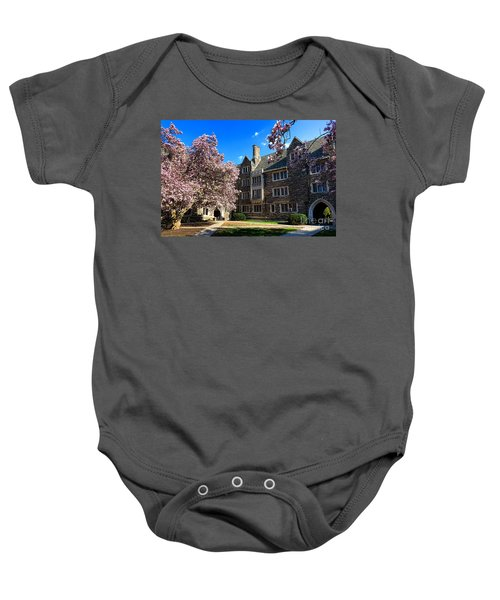 Princeton University Pyne Hall Courtyard Baby Onesie