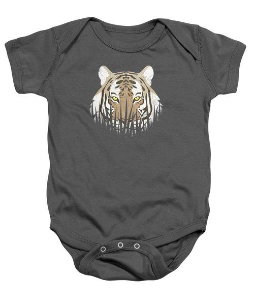 Hiding Tiger Baby Onesie by Sinisa Kale
