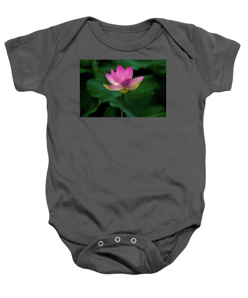 Profile Of A Lotus Lily Baby Onesie