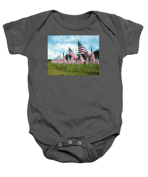 Proud And Free Baby Onesie