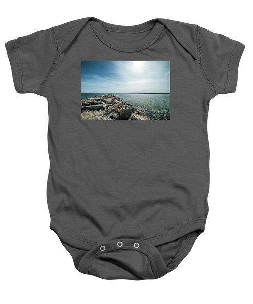 Provincetown Breakwater Baby Onesie