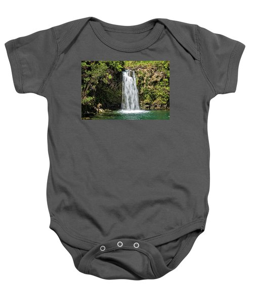 Baby Onesie featuring the photograph Pua'a Ka'a Falls by Jim Thompson