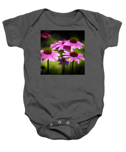Purple Coneflowers Baby Onesie