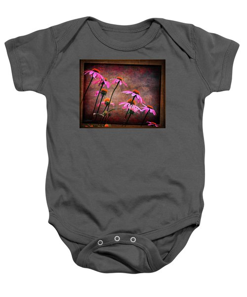 Purple Coneflowers Out Of Alignment  Baby Onesie