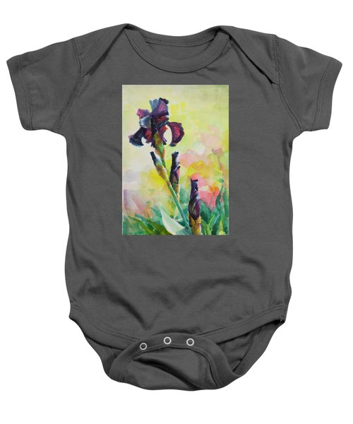 Purple Iris Baby Onesie