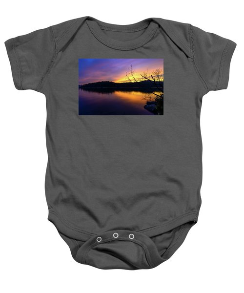 Purple Lake Baby Onesie