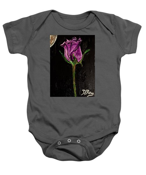 Purple Under The Moon's Glow Baby Onesie