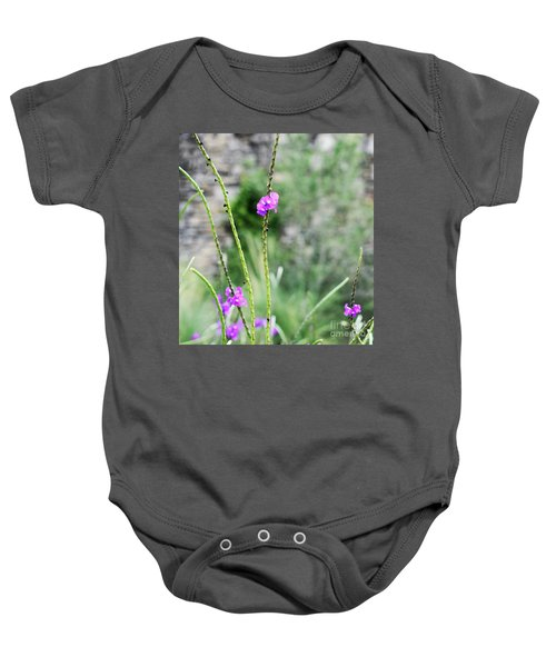 Purple Vebena Baby Onesie