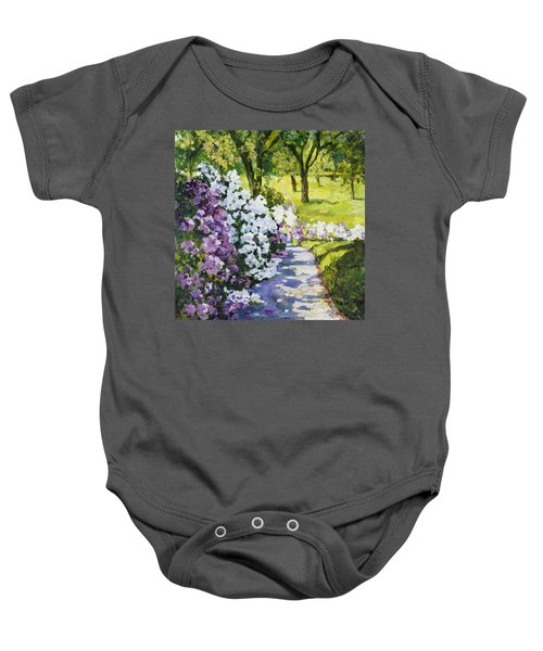 Purple White Baby Onesie