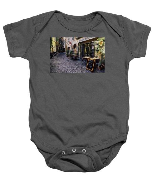 Quaint Cobblestones Streets In Rome, Italy Baby Onesie