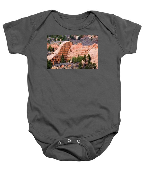 Quarry Closup At Red Rock Canyon Colorado Springs Baby Onesie