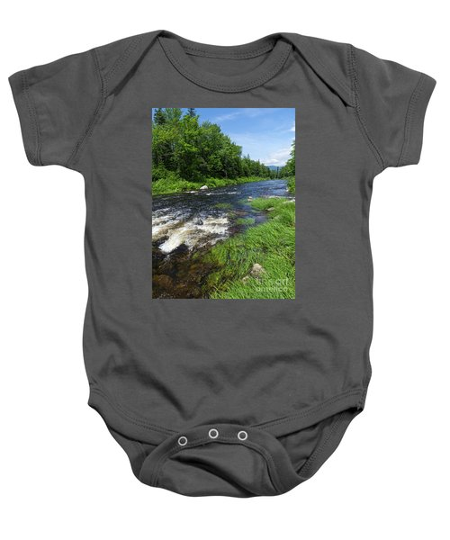Quill Pond Brook Near Rangeley Maine  -70748 Baby Onesie
