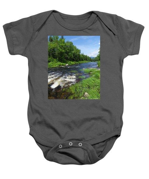 Quill Pond Brook Near Rangeley Maine  -70748 Baby Onesie