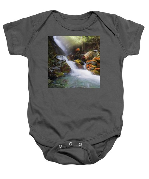 Baby Onesie featuring the photograph Race Brook Falls 2017 Square by Bill Wakeley
