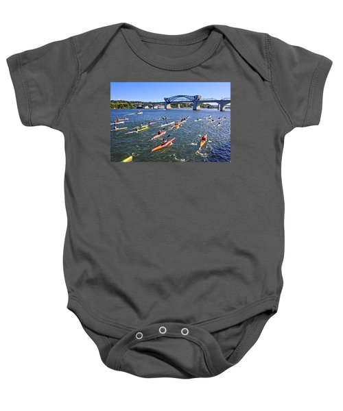 Race On The River Baby Onesie