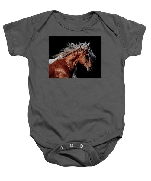 Racing With The Wind Baby Onesie