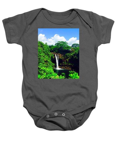 Rainbow Falls Hilo Hawaii Baby Onesie