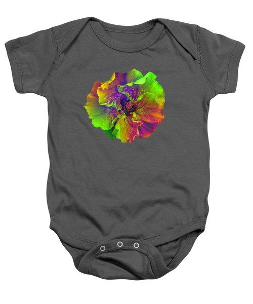 Rainbow Hibiscus Baby Onesie