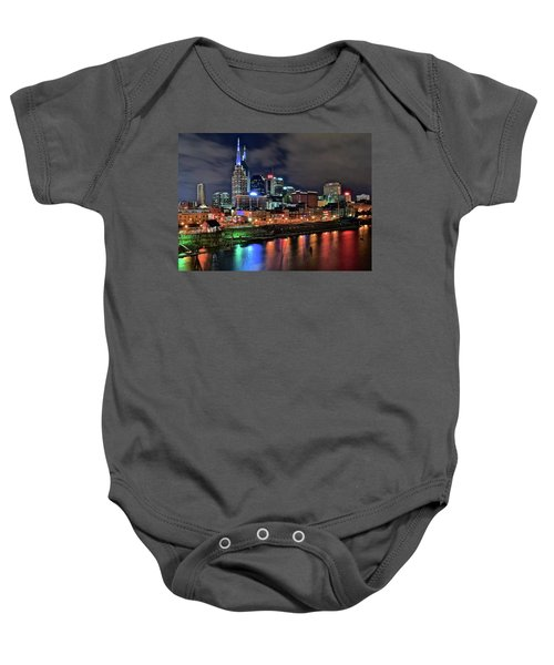 Rainbow On The River Baby Onesie by Frozen in Time Fine Art Photography