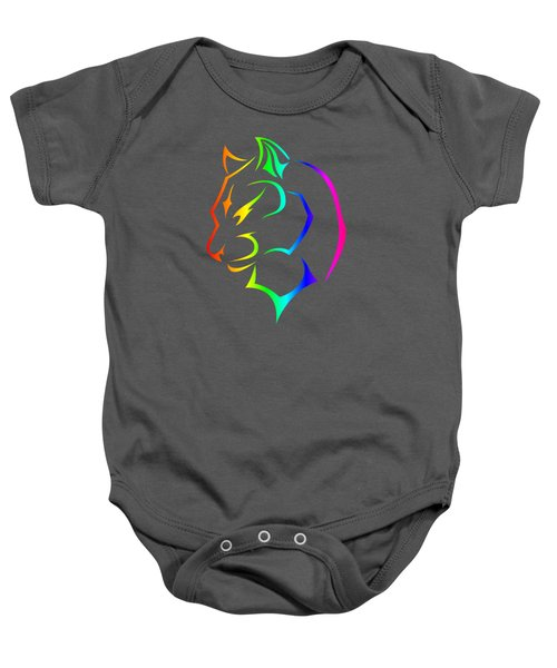 Rainbow Panther Baby Onesie by Frederick Holiday