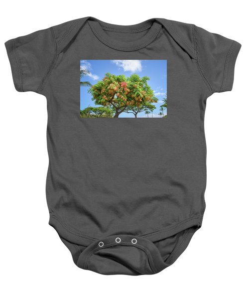 Baby Onesie featuring the photograph Rainbow Shower Tree 1 by Jim Thompson