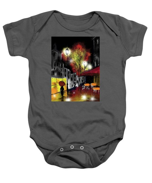 Raining And Color Baby Onesie