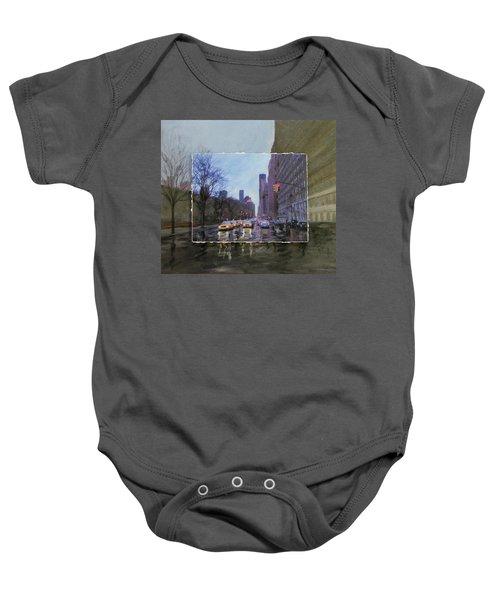 Rainy City Street Layered Baby Onesie
