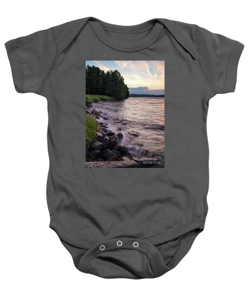 Rangeley Lake State Park In Rangeley Maine  -53215-53218 Baby Onesie